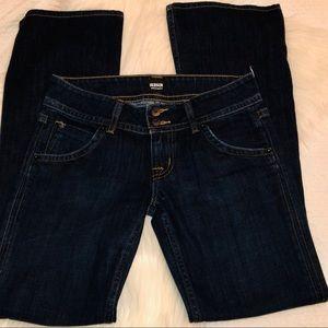 Hudson Signature Mid-Rise Bootcut Jeans Dark Wash